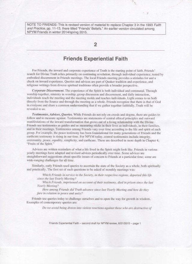 Faith in Practice - Friends Experiential Faith - Page 1