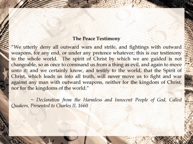 Friends' Peace Testimony